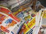 Výkup papíru v místní sběrně